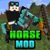 HORSES MOD for Minecraft Game - Pocket Guide PC Edition (with racing)