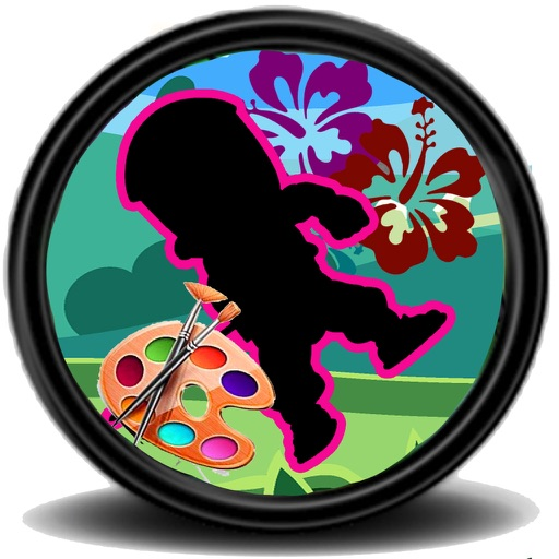 Coloring Game For Kids NINJA HATTORI KUN Edition iOS App