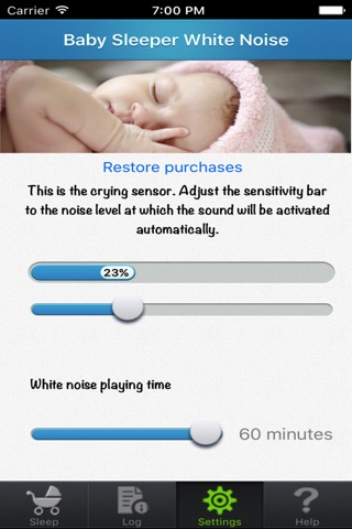 Baby Sleep White noise screenshot 2