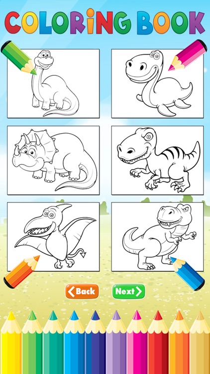 Dinosaur Dragon Coloring Book - Dino drawing for kid free, Animal paint and  color games