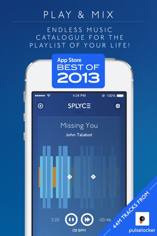 Splyce - fancy music player with automix. Pulselocker Edition! screenshot 1