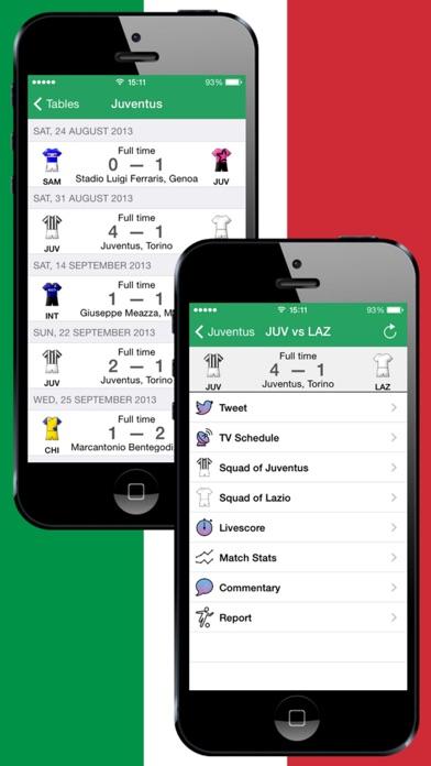 Screenshot of Calcio italiano 2011-2012 piedi Video di obiettivi Formazioni capocannonieri Squadre informazioni2