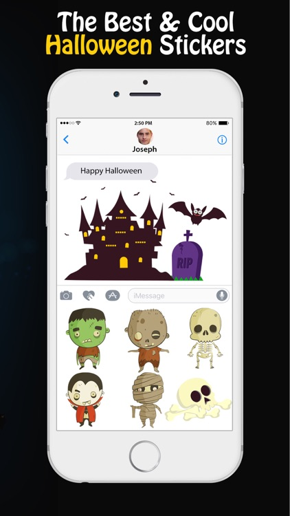happy halloween stickers for imessage app - Happy Halloween Stickers