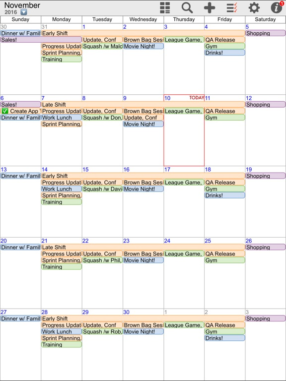 myCal PRO: Calendar & Event Organizer Screenshots