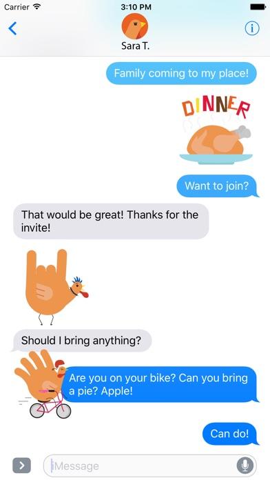 download Hand Turkey Stickers apps 3