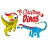 Christmas Dinos Big Eye Collection 貼紙