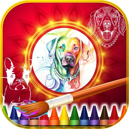 Mandalas Coloring of Dogs iOS App