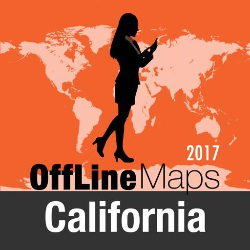 Californie Déconnecté carte et guide de voyage
