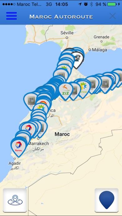 Maroc AutoroutesCapture d'écran de 3