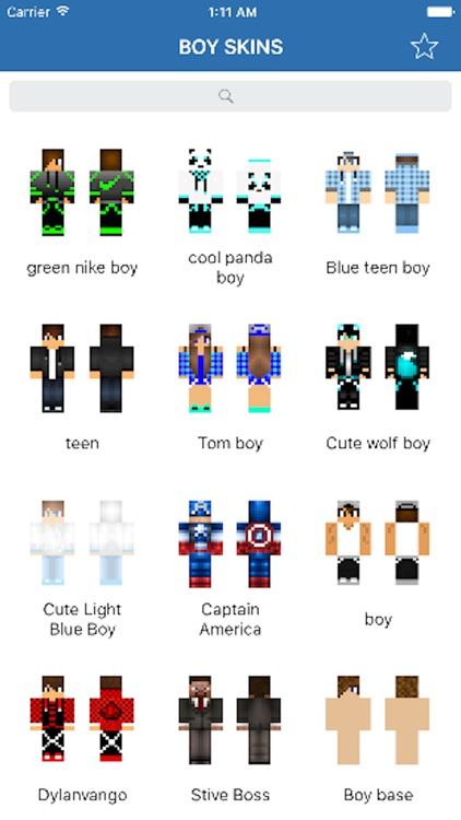 skins for minecraft pe blue wolf boy