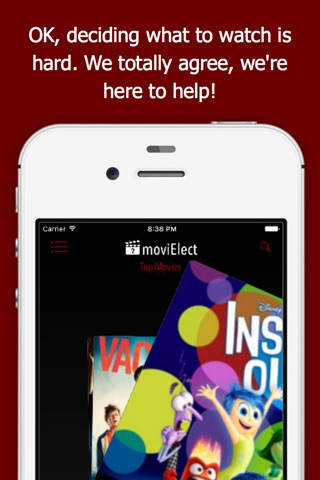 moviElect - Decide Which iTunes Movie or Rental to Watch for TV & Mobile screenshot 1