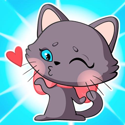 Bellissima gatta Lucy adesivi