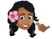 Animated Pidginmoji - Wahine Stickers