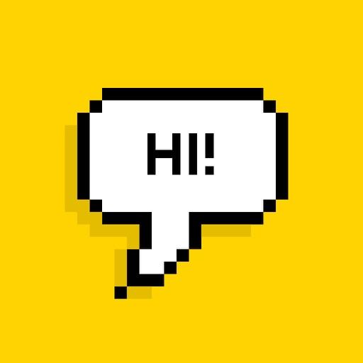 Bubble - Add text + emoji pixel speech bubbles to photos