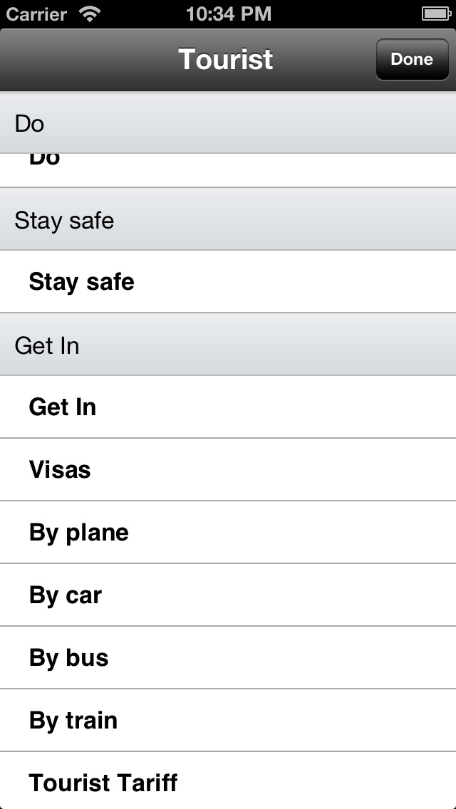 Screenshot 3 for Wikivoyage's iPhone app'