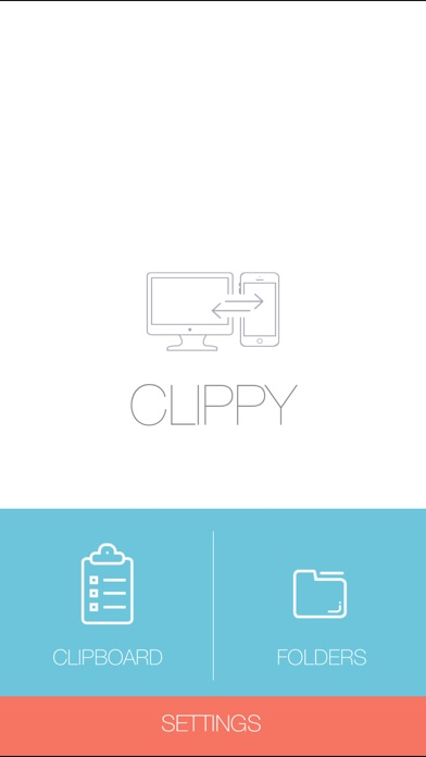 Clippy - Transmit anything between iOS and Mac wirelessly screenshot one