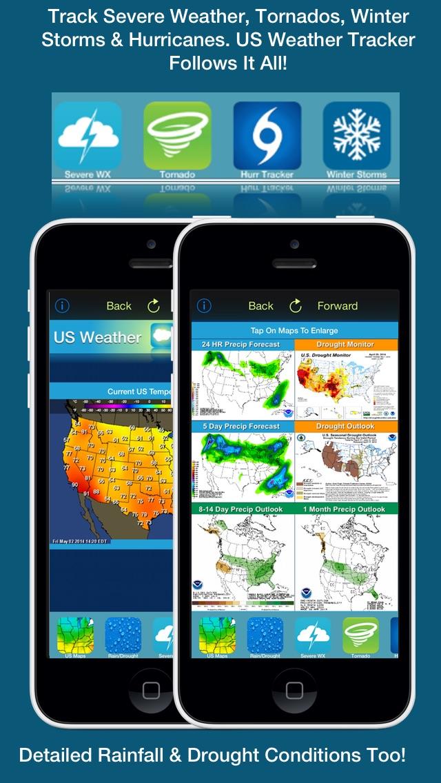 Screenshot #4 for US Weather Tracker - Weather Maps, Radar, Severe & Tornado Outlook & NOAA Forecast
