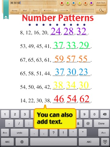 Kids Math-Patterns Worksheets(Grade 1) on the App Store