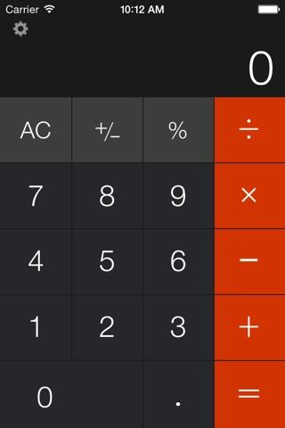 Calculator Free - for iPad screenshot 1