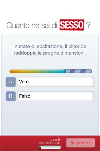 Screenshot of Quanto ne sai di Sesso? Scoprilo con il vostro partner o con i tuoi amici!4