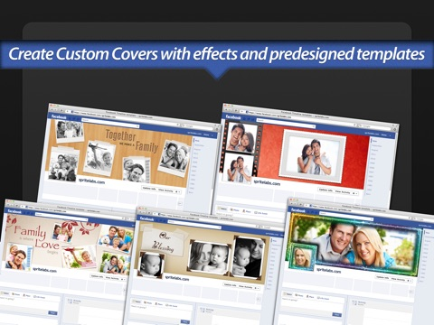 Screenshot #2 for Photo Covers for Facebook: Timeline Editor