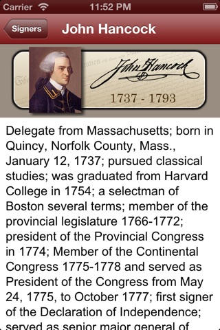 Declaration for iPhone and iPod Touch screenshot 2