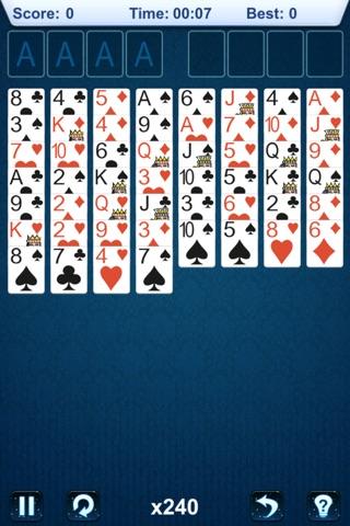 `FreeCell Solitaire: Basic screenshot 1
