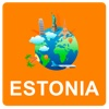 Estonia Off Vector Map - Vector World