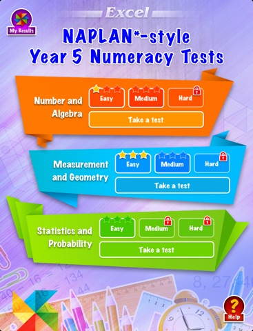 Excel NAPLAN*-style Year 5 Numeracy Tests screenshot 1