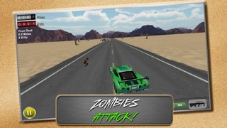 Screenshot #3 pour Drive with Zombies 3D