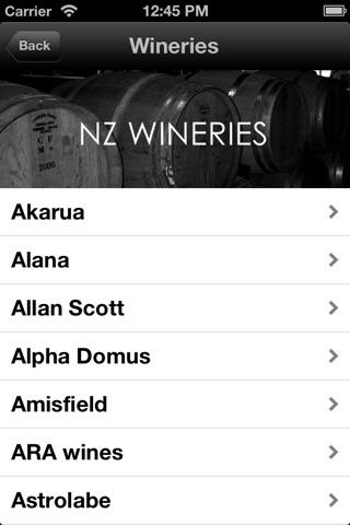 WINE-LIST.ME/NZ screenshot 1