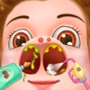 Little Nose Doctor - free doctor clinic & surgery games for kids teens & girls
