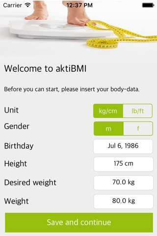 Weight Loss Tracker, BMI screenshot 1