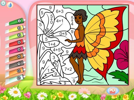 Скачать Феи - Рисование по номерам - Раскраска для девочек
