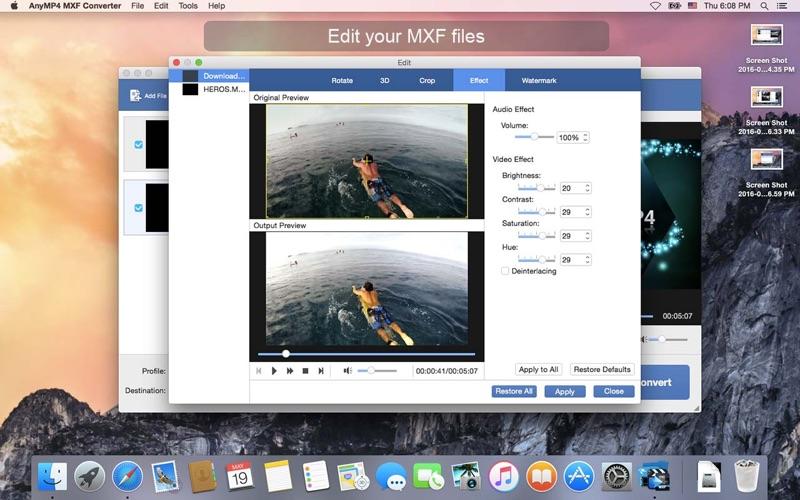 AnyMP4 MXF Converter Screenshots