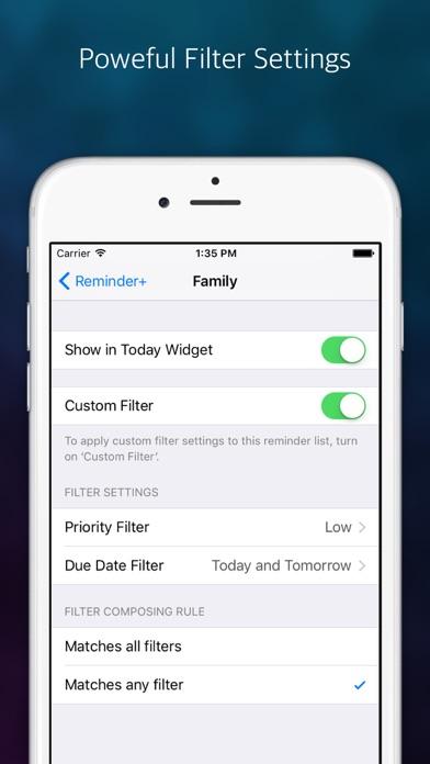 Reminder: Widget+ Screenshots