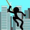 Qingqing Wang - Fly Ninja With Rope Stick N artwork