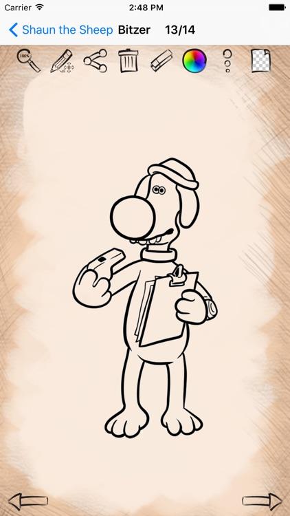 Easy Draw For Shaun The Sheep Friends By Yuriy Rozgonyuk