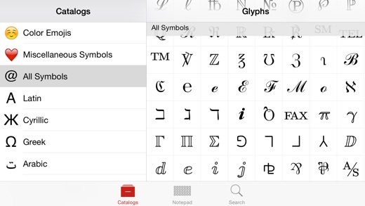 Unicode Pad Screenshots