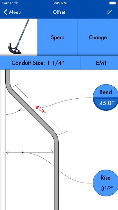Quickbend conduit bending calculator by bret hardman screenshots iphone ipod keyboard keysfo Gallery