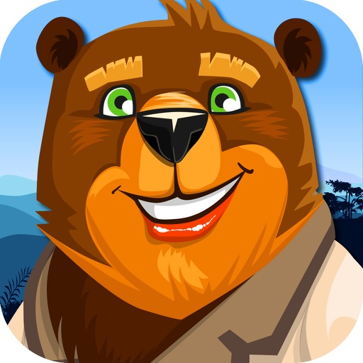 Grizzly Bear of the Mighty Beast in Jungle Time iOS App