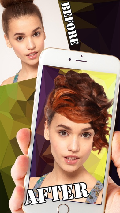 Ombre Hair Salon Editor Change Your Hairstyle Color To Create - Edit your hairstyle