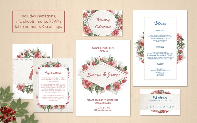 Wedding Invitations Stationery Pages Edition On The Mac App Store
