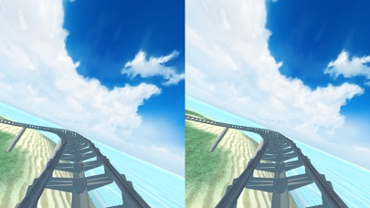 Virtual Reality Roller Coaster for Google Cardboard VR screenshot