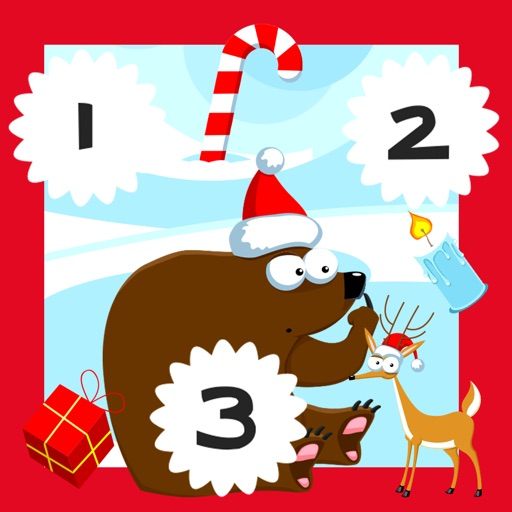 123 Pazzo Conteggio del Ghiaccio, Della Neve e di Natale Animali: i Ragazzi di Imparare Gioco