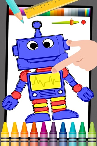Robot Kids Coloring Book Game screenshot 1