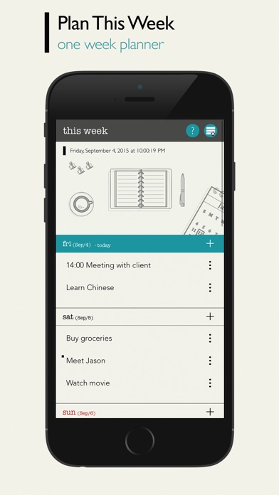 This Week - Weekly To-Do List Screenshots