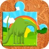 Dinosaur Rex Jigsaw Puzzle Farm - Fun Animated Kids Jigsaw Puzzle with HD Cartoon Dinosaurs