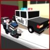 Police Cube Car Craft Sim 3D - Blocky Racing Roads Fever