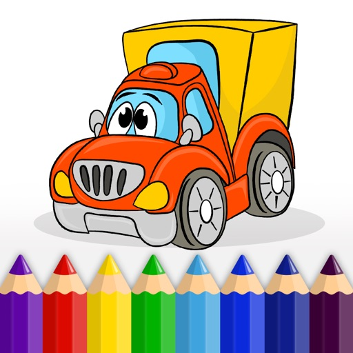Cars, Trucks and other Vehicles - Coloring Book for Little Boys, Little Girls and Kids iOS App
